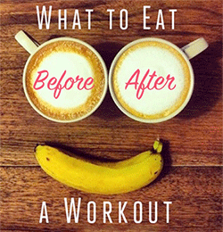 What to eat before or after a workout